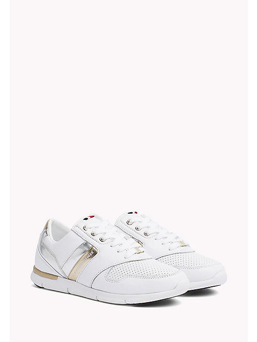 TOMMY HILFIGER Lightweight Metallic Detail Trainers - WHITE - TOMMY HILFIGER Athleisure - main image
