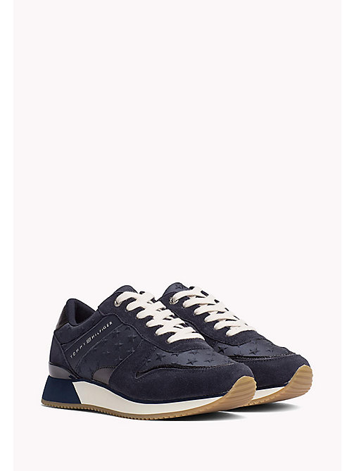 TOMMY HILFIGER Suede Star Trainers - MIDNIGHT - TOMMY HILFIGER Shoes - main image