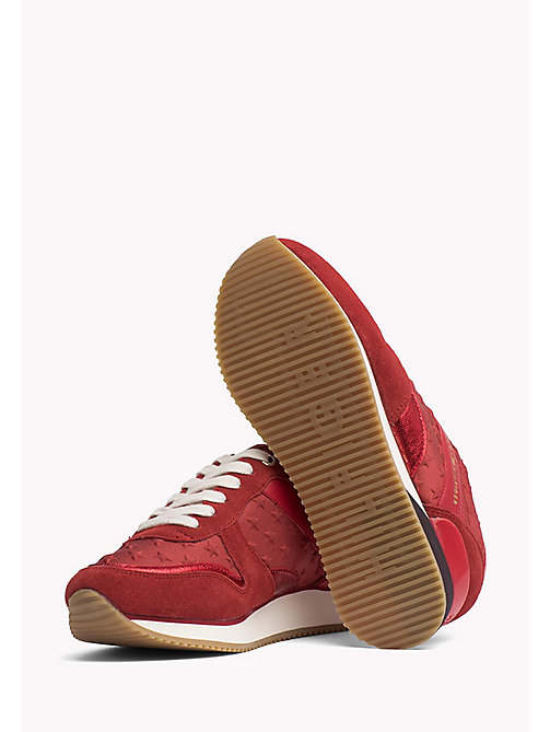TOMMY HILFIGER Suede Star Trainers - TANGO RED - TOMMY HILFIGER Athleisure - detail image 1