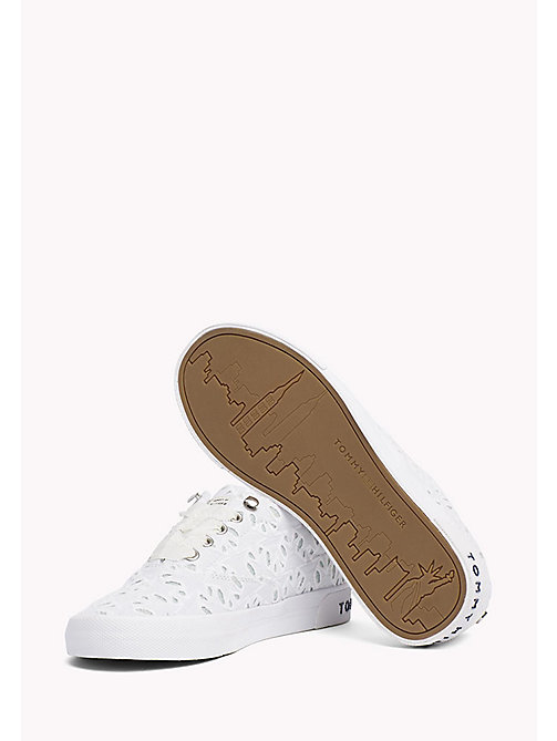 TOMMY HILFIGER Embroidered Lace-Up Trainers - WHITE - TOMMY HILFIGER Trainers - detail image 1