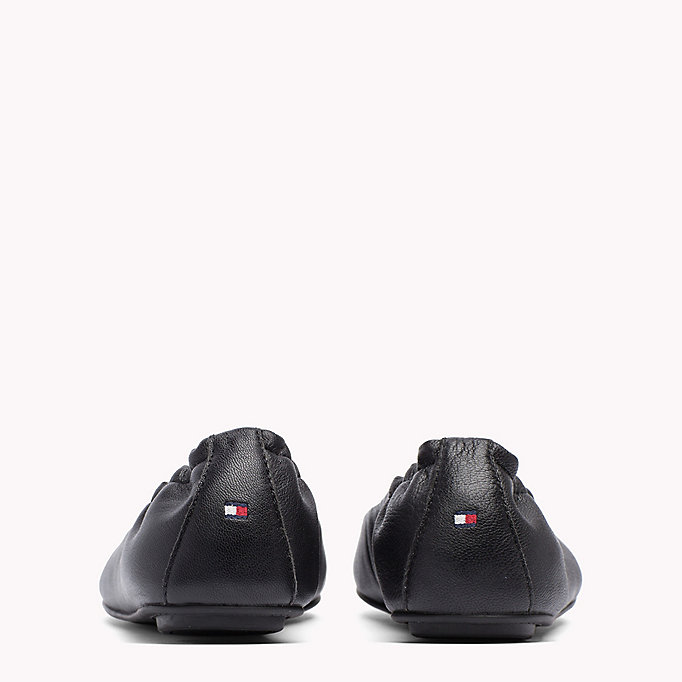 TOMMY HILFIGER Flexible Leather Ballerina Shoes - MIDNIGHT - TOMMY HILFIGER SHOES - detail image 2