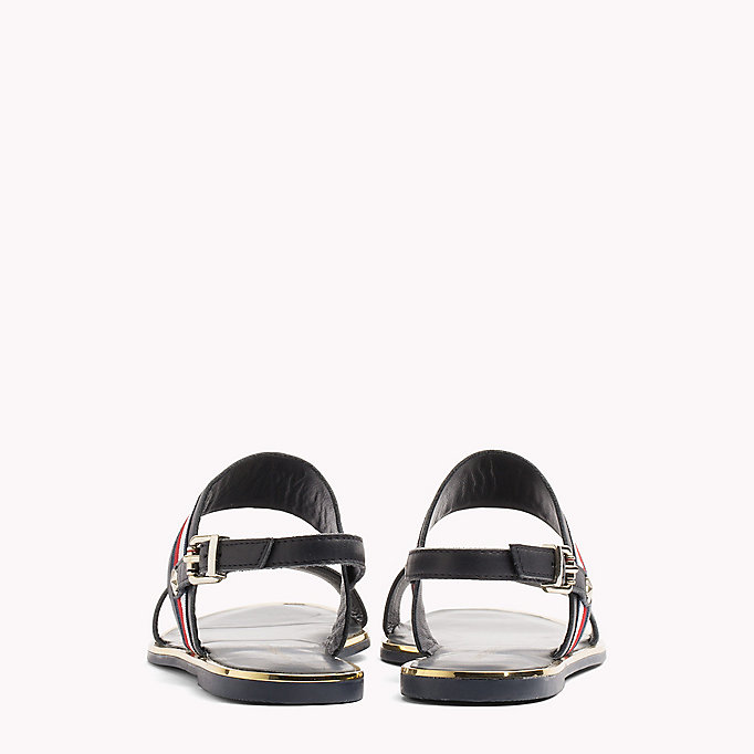 TOMMY HILFIGER Open Toe Leather Sandals - WHISPER WHITE - TOMMY HILFIGER SHOES - detail image 2