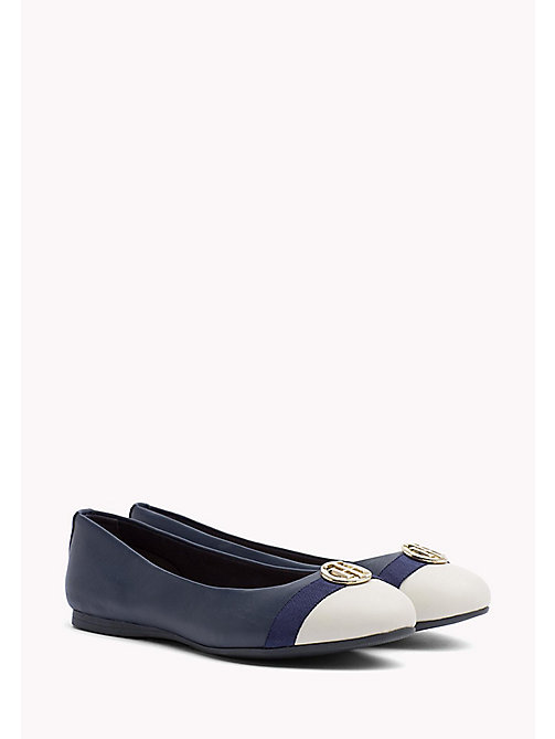 TOMMY HILFIGER BALLERINA WITH HARDWARE - TOMMY NAVY - TOMMY HILFIGER Shoes - main image