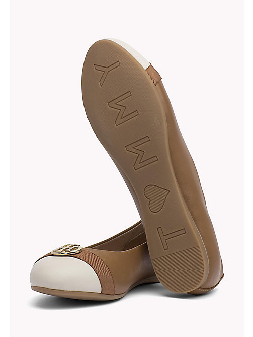 TOMMY HILFIGER BALLERINA WITH HARDWARE - SUMMER COGNAC - TOMMY HILFIGER Shoes - main image 1