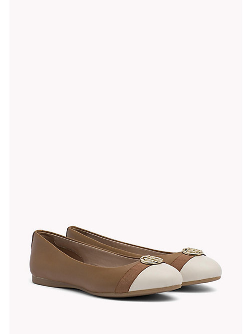 TOMMY HILFIGER BALLERINA WITH HARDWARE - SUMMER COGNAC - TOMMY HILFIGER Ballerina Shoes - main image
