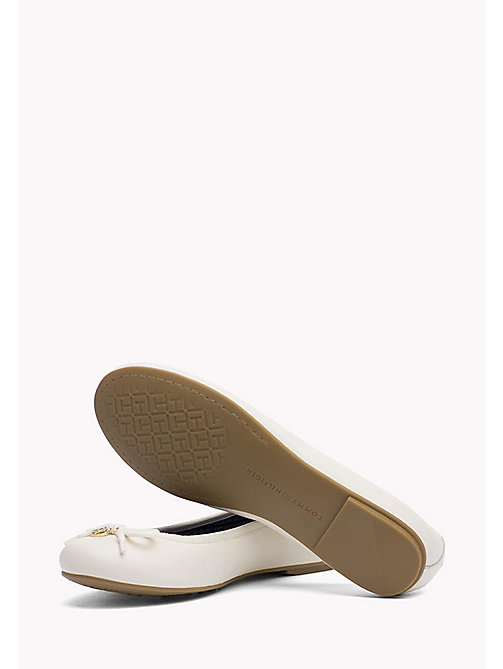 TOMMY HILFIGER Leather Ballerina Shoes - WHISPER WHITE - TOMMY HILFIGER Best Sellers - detail image 1