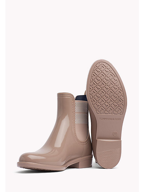 TOMMY HILFIGER Chelsea Rubber Boots - MAHOGANY ROSE - TOMMY HILFIGER Boots - detail image 1