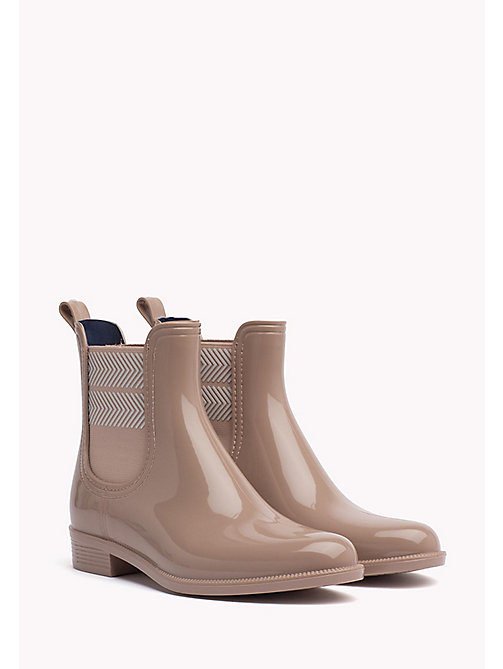 TOMMY HILFIGER Chelsea Rubber Boots - MAHOGANY ROSE - TOMMY HILFIGER Boots - main image