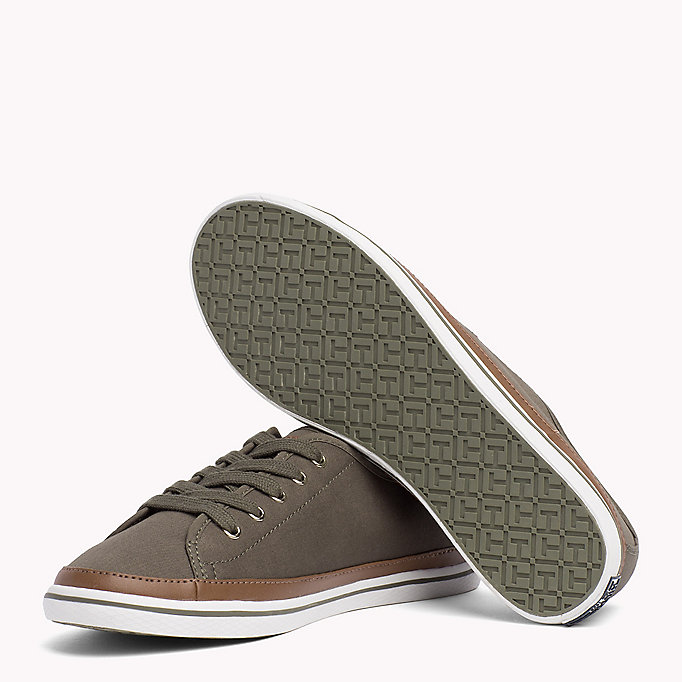 TOMMY HILFIGER Classic Low Top Canvas Trainers - DESERT SAND - TOMMY HILFIGER Women - detail image 1