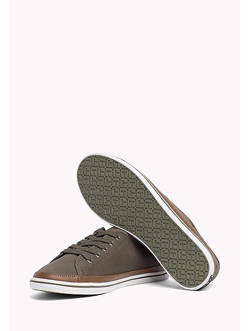 Classic Low Top Canvas Trainers - DUSTY OLIVE - TOMMY HILFIGER Shoes - detail image 1