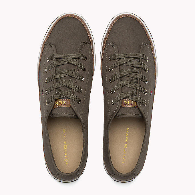 TOMMY HILFIGER Classic Low Top Canvas Trainers - DESERT SAND - TOMMY HILFIGER Women - detail image 3