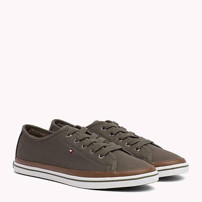 TOMMY HILFIGER Classic Low Top Canvas Trainers - DESERT SAND - TOMMY HILFIGER Women - main image
