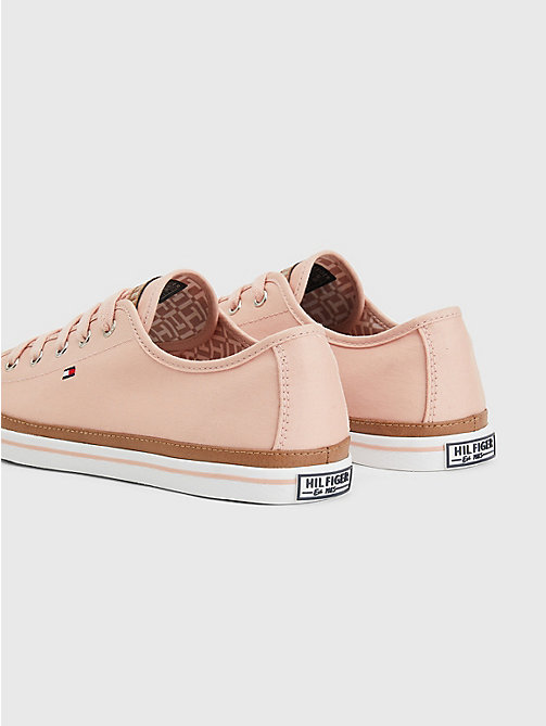 TOMMY HILFIGER Classic Low Top Canvas Trainers - DUSTY ROSE - TOMMY HILFIGER Best Sellers - detail image 1