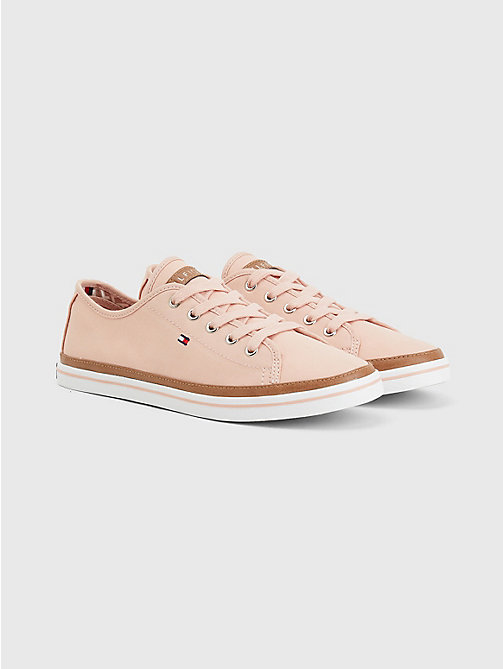TOMMY HILFIGER Classic Low Top Canvas Trainers - DUSTY ROSE - TOMMY HILFIGER Best Sellers - main image