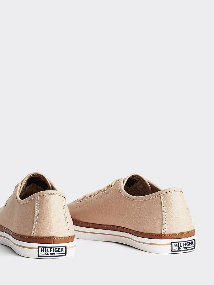TOMMY HILFIGER Classic Low Top Canvas Trainers - WHISPER WHITE - TOMMY HILFIGER Women - detail image 1