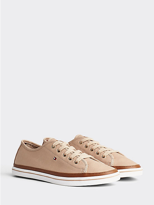 TOMMY HILFIGER Classic Low Top Canvas Trainers - DESERT SAND - TOMMY HILFIGER Best Sellers - main image