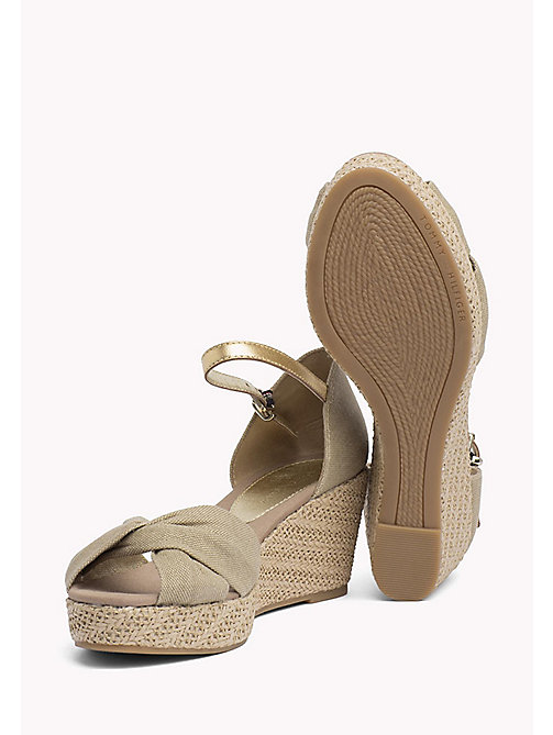 TOMMY HILFIGER Metallic Elba Sandals - SAND - TOMMY HILFIGER Wedges - detail image 1