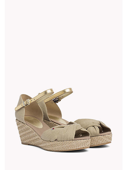 TOMMY HILFIGER Metallic Elba Sandals - SAND - TOMMY HILFIGER Wedges - main image