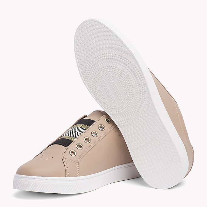 TOMMY HILFIGER Leather Elasticated Trainers - WHITE - TOMMY HILFIGER ZAPATOS - imagen detallada 1