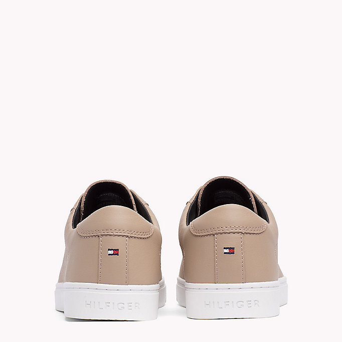 TOMMY HILFIGER Leather Elasticated Trainers - WHITE - TOMMY HILFIGER SCHUHE - main image 2