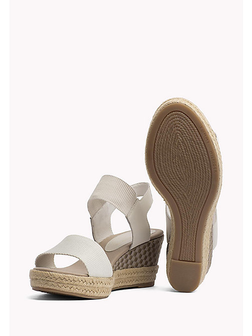 TOMMY HILFIGER Iconic Elba Leather Sandals - WHISPER WHITE - TOMMY HILFIGER VACATION FOR HER - detail image 1