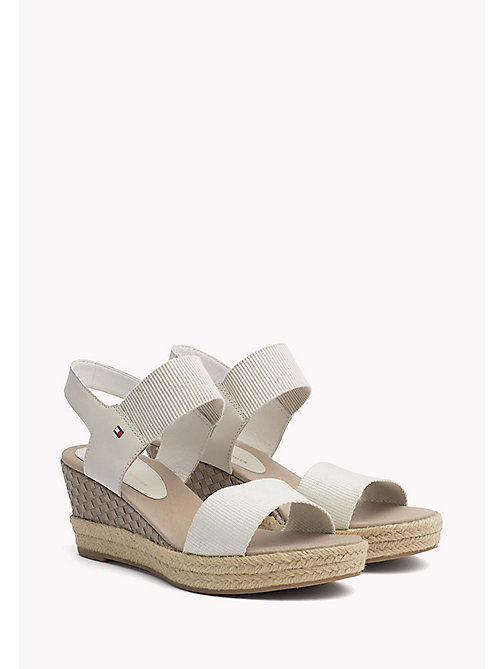 TOMMY HILFIGER Iconic Elba Leather Sandals - WHISPER WHITE - TOMMY HILFIGER VACATION FOR HER - main image