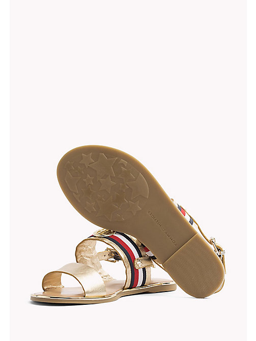 TOMMY HILFIGER Metallic Leather Sandals - MEKONG - TOMMY HILFIGER Flat Sandals - detail image 1