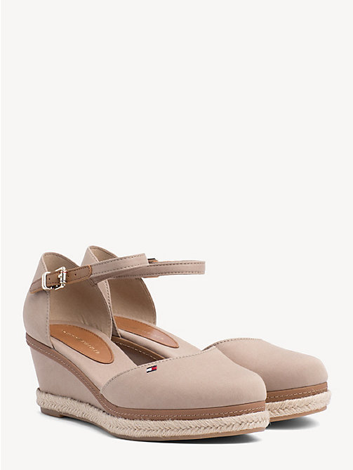 TOMMY HILFIGER Iconic Elba Closed Toe Sandals - COBBLESTONE - TOMMY HILFIGER Wedges - main image