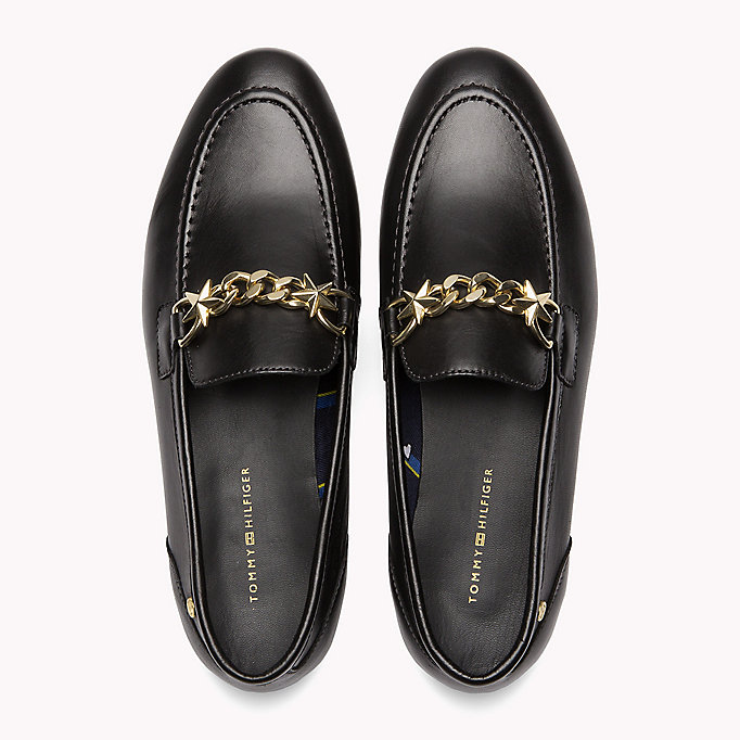 TOMMY HILFIGER Chain Detail Leather Loafers - SILKY NUDE - TOMMY HILFIGER SCHUHE - main image 3
