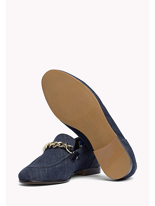 TOMMY HILFIGER Denim Chain Loafers - TOMMY NAVY - TOMMY HILFIGER Moccasins & Loafers - detail image 1