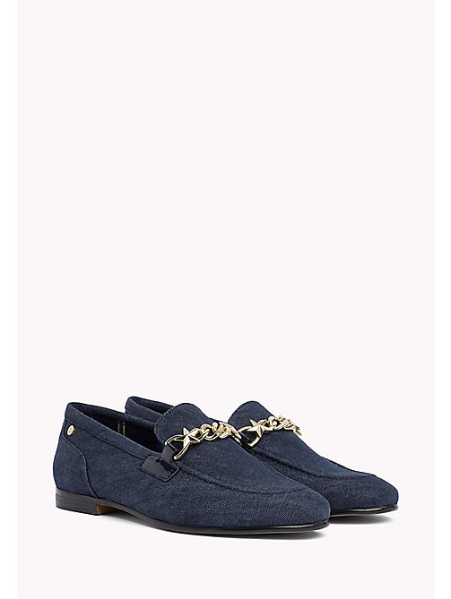 TOMMY HILFIGER Denim Chain Loafers - TOMMY NAVY - TOMMY HILFIGER Shoes - main image