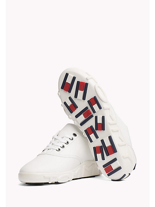 TOMMY HILFIGER Gigi Hadid Leather Sneaker - WHITE - TOMMY HILFIGER Shoes - detail image 1