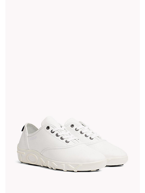 TOMMY HILFIGER Gigi Hadid Leather Sneaker - WHITE - TOMMY HILFIGER Shoes - main image