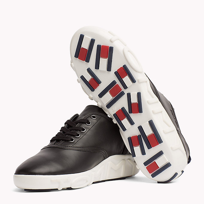 TOMMY HILFIGER Gigi Hadid Leather Sneaker - WHITE - TOMMY HILFIGER Women - detail image 1