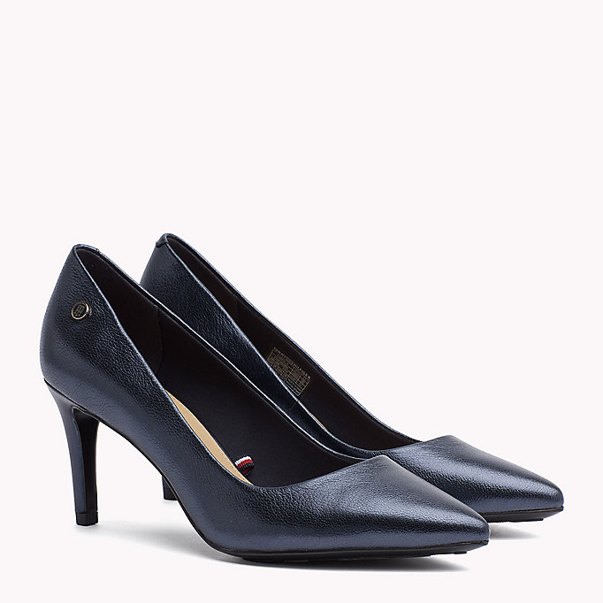 TOMMY HILFIGER Metallic Leather Pumps - MEKONG - TOMMY HILFIGER Women - main image