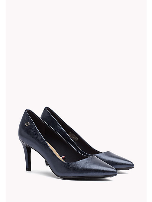 TOMMY HILFIGER Metallic leren pump - MIDNIGHT - TOMMY HILFIGER Pumps - main image