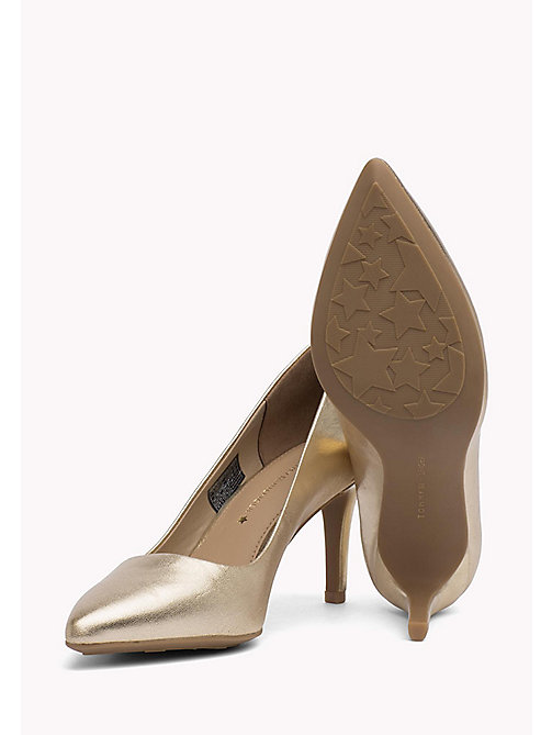 TOMMY HILFIGER Metallic Leather Pumps - MEKONG - TOMMY HILFIGER Shoes - detail image 1
