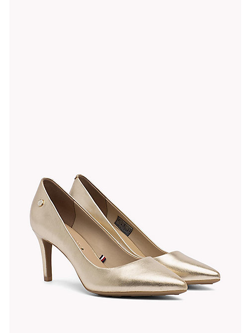TOMMY HILFIGER Metallic Leather Pumps - MEKONG - TOMMY HILFIGER Shoes - main image