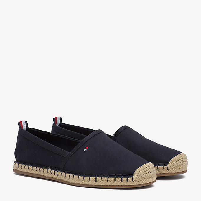 TOMMY HILFIGER Espadrilles plates - COBBLESTONE - TOMMY HILFIGER CHAUSSURES - image principale