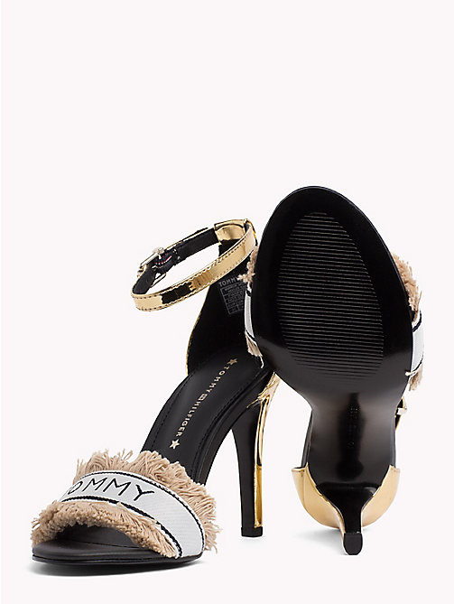 TOMMY HILFIGER Mirror Metallic Fringe Heels - LIGHT GOLD - TOMMY HILFIGER Sandals - detail image 1