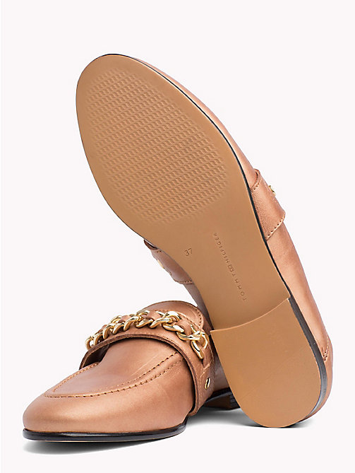 TOMMY HILFIGER Chain Detail Leather Loafers - SUMMER COGNAC - TOMMY HILFIGER NEW IN - detail image 1