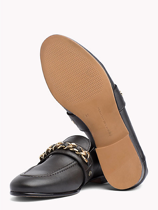 TOMMY HILFIGER Chain Detail Leather Loafers - BLACK - TOMMY HILFIGER Best Sellers - detail image 1