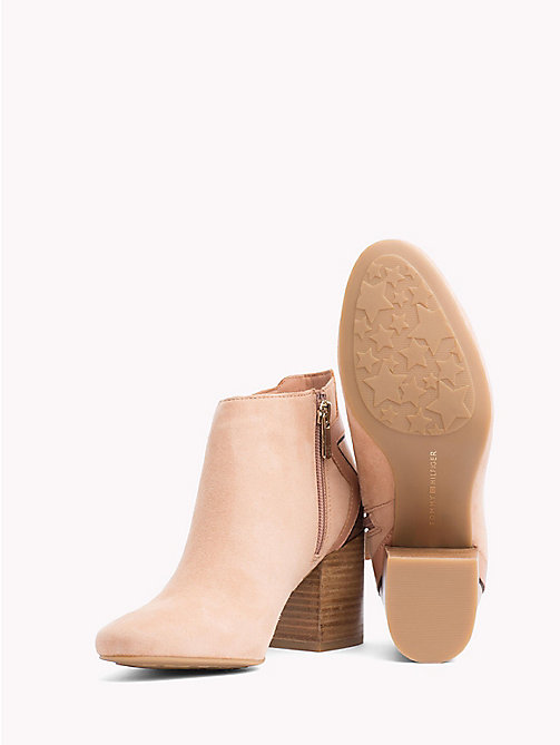 TOMMY HILFIGER Metallic Star Suede Boots - SILKY NUDE - TOMMY HILFIGER Ankle Boots - detail image 1