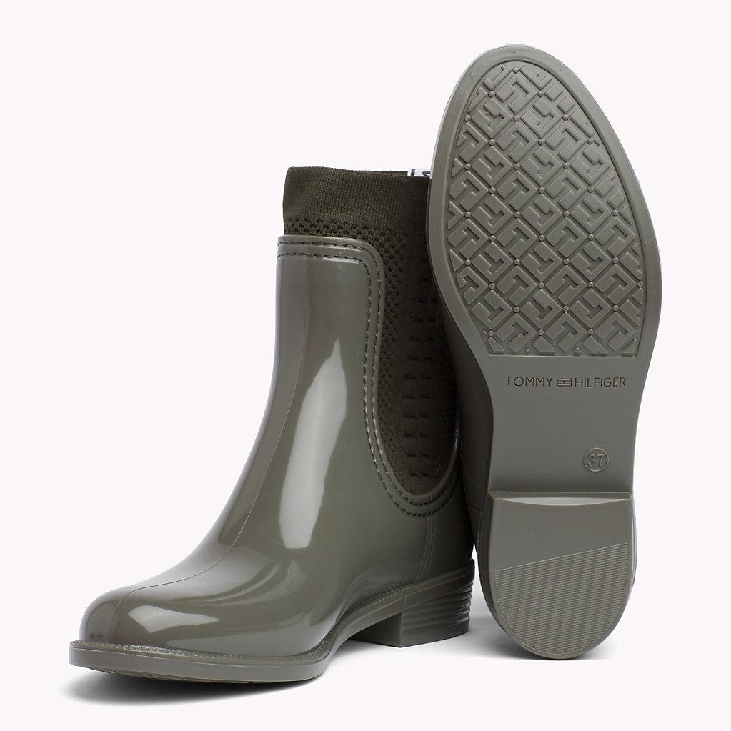 Estilo de liquidación de moda Envío gratis Manchester Tommy Hilfiger Botas de agua con calcetín de punto Comprar barato Amazon Free Shipping Footlocker Finishline bCPjLf2