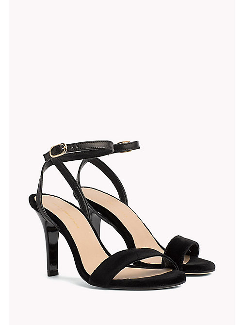 TOMMY HILFIGER Dressy Leather Sandal - BLACK - TOMMY HILFIGER Shoes - main image