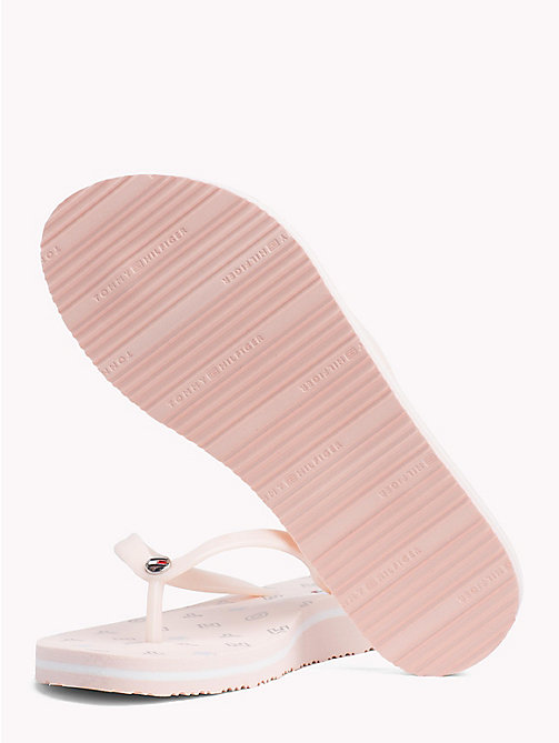 TOMMY HILFIGER Seasonal Print Flip-Flops - SILVER PEONY - TOMMY HILFIGER VACATION FOR HER - detail image 1
