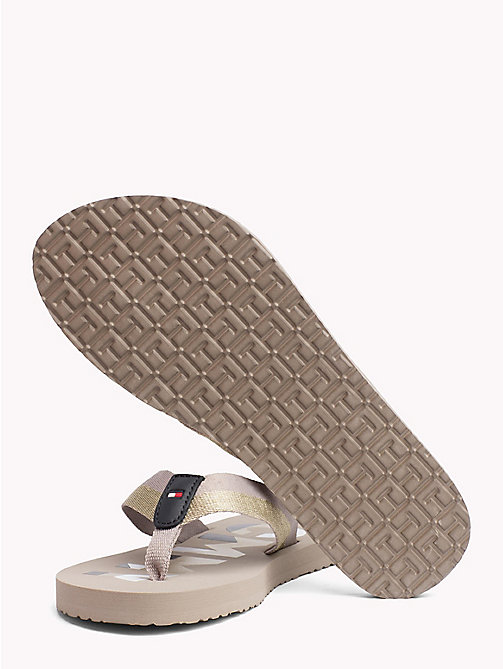TOMMY HILFIGER Glitter Strap Beach Sandals - COBBLESTONE - TOMMY HILFIGER NEW IN - detail image 1
