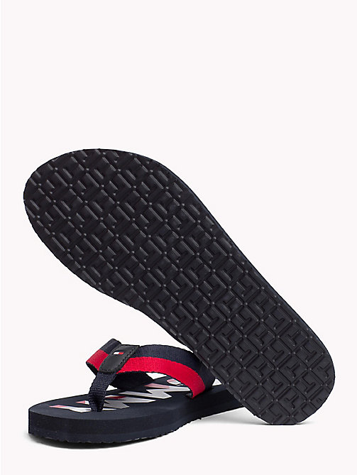 TOMMY HILFIGER Glitter Strap Beach Sandals - MIDNIGHT - TOMMY HILFIGER Sandals - detail image 1