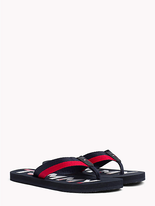 TOMMY HILFIGER Glitter Strap Beach Sandals - MIDNIGHT - TOMMY HILFIGER VACATION FOR HER - main image