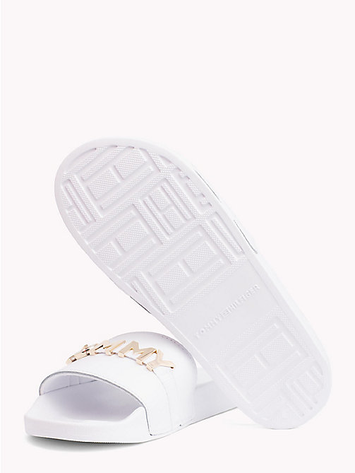 TOMMY HILFIGER Leather Beach Sliders - WHITE - TOMMY HILFIGER NEW IN - detail image 1